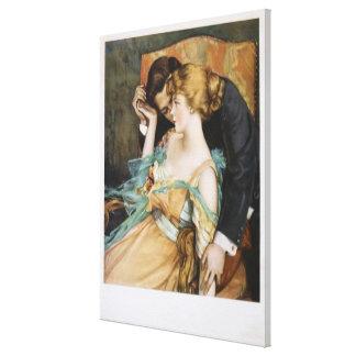 Pélele amor para tocar a Maria Greene Blumenschein Impresión En Lienzo
