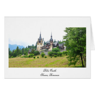 Peles Castle in Sinaia, Romania Card