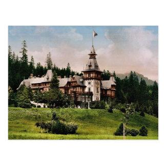 Pelesch (i.e., Peles) Castle, Sinaia, Roumania cla Postcard
