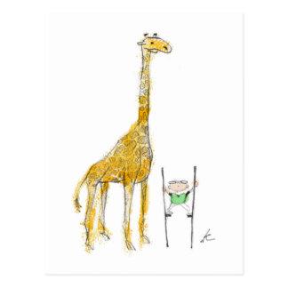Pelham & the Giraffe Postcard