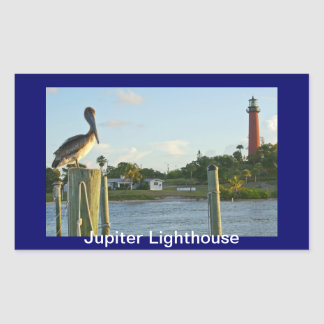 Pelican and Lighthouse Rectangular Sticker