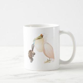 pelican and turtle coffee mug