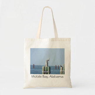 Pelican at Mobile Bay, Alabama tote bag