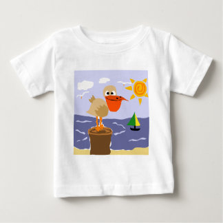 Pelican at the Beach Art Shirts