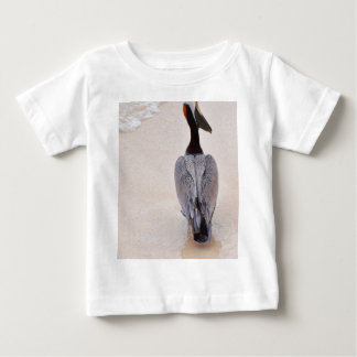 Pelican at the beach baby T-Shirt