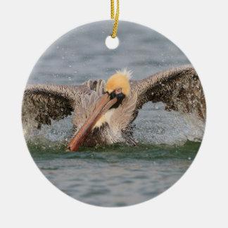 Pelican Bath Time Ceramic Ornament
