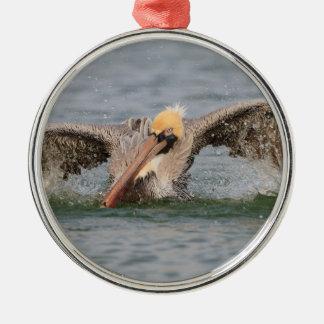 Pelican Bath Time Metal Ornament