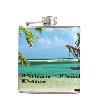 Pelican Beach Belize Hip Flask