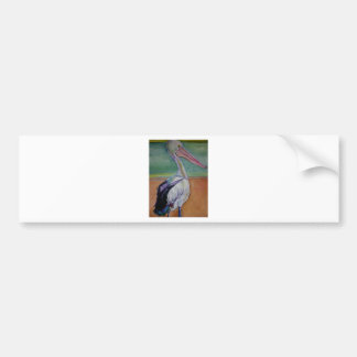 Pelican beach bumper sticker
