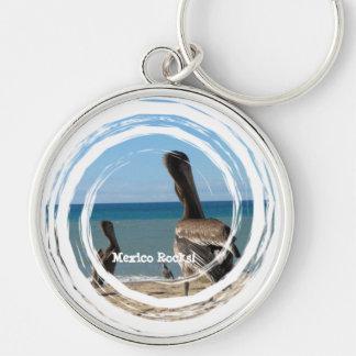 Pelican Beach Bums; Mexico Souvenir Keychain