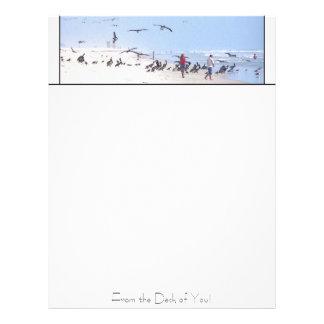 Pelican Beach Personalized Letterhead