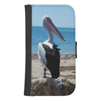Pelican_Beach_Rocks, _Galaxy_S4_Wallet_Case Billetera Para Galaxy S4