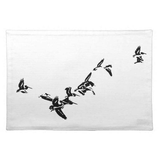 Pelican Birds Art Place Mat Cloth Placemat