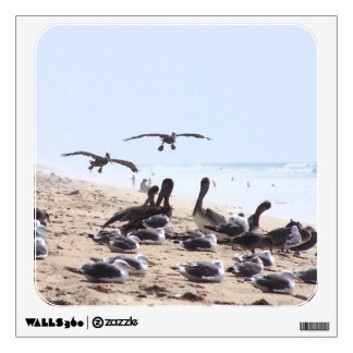 Pelican Birds Beach Wall Decal