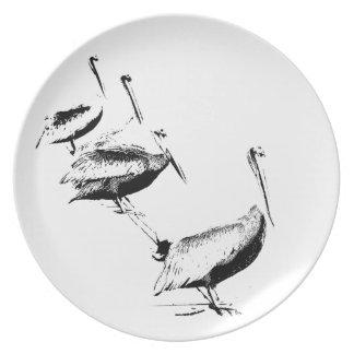 Pelican Birds Plate