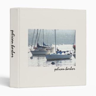 Pelican Birds Sailboats Boats Harbor Ocean Sea 3 Ring Binder