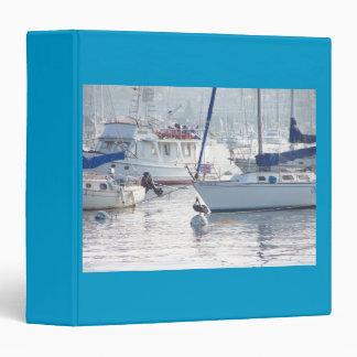 Pelican Birds Sailboats Boats Harbor Ocean Sea Binder