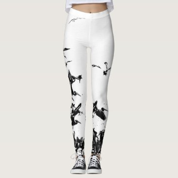 Beach Themed Pelican Birds Wildlife All Over Print Leggings