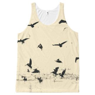 Pelican Birds Wildlife Animal Ocean Wetlands All-Over Print Tank Top