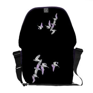 Pelican Birds Wildlife Animals Beach Messenger Bag