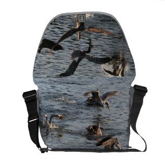 Pelican Birds Wildlife Animals Beach Ocean Courier Bag