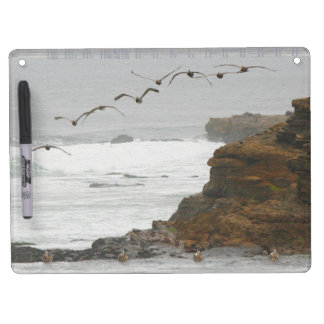 Pelican Birds Wildlife Animals Beach Ocean Dry Erase Board With Keychain Holder