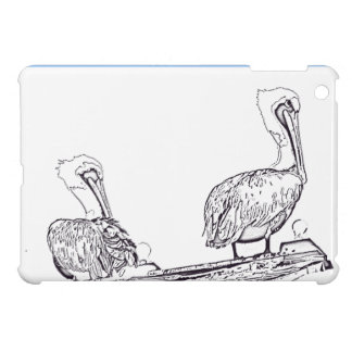Pelican Birds Wildlife Animals Beach Ocean iPad Mini Cover