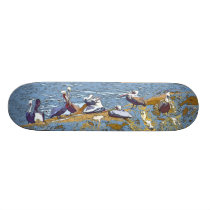 Pelican Birds Wildlife Animals Beach Skateboard Deck