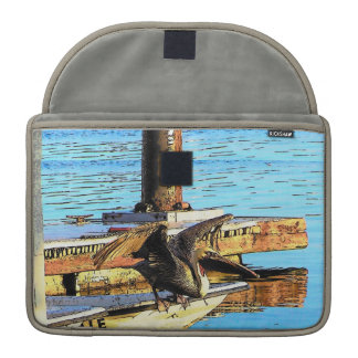 Pelican Birds Wildlife Animals Beach Sleeve For MacBooks