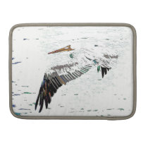 Pelican Birds Wildlife Animals Beach Sleeve For MacBooks