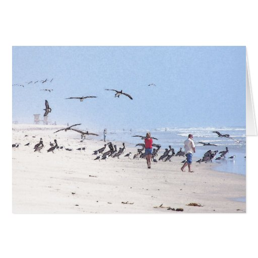 Pelican Birds Wildlife Animals Card