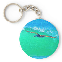 Pelican Birds Wildlife Animals Keychain