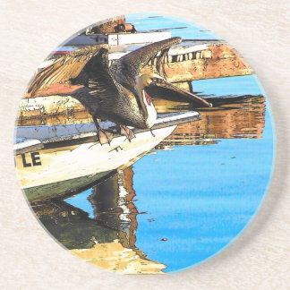 Pelican Birds Wildlife Animals Ocean Drink Coaster