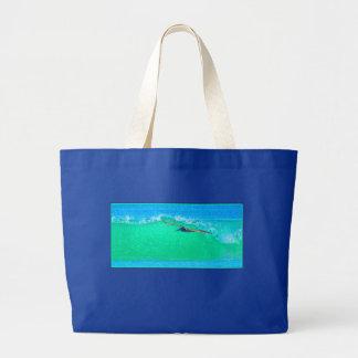 Pelican Birds Wildlife Animals Ocean Large Tote Bag