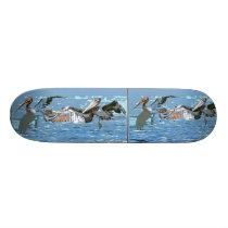 Pelican Birds Wildlife Animals Ocean Skateboard Deck