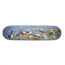 Pelican Birds Wildlife Animals Skateboard Deck