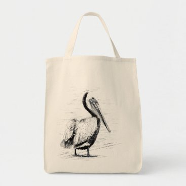 Beach Themed Pelican Birds Wildlife Animals Tote Bag