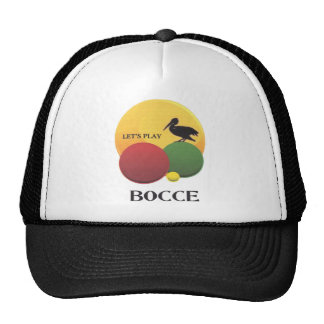 pelican bocce trucker hat