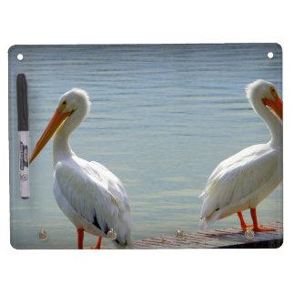 Pelican Buddies Dry Erase Board With Keychain Holder