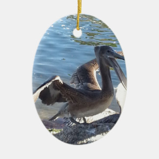 Pelican Ceramic Ornament