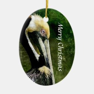 Pelican Christmas Ornament
