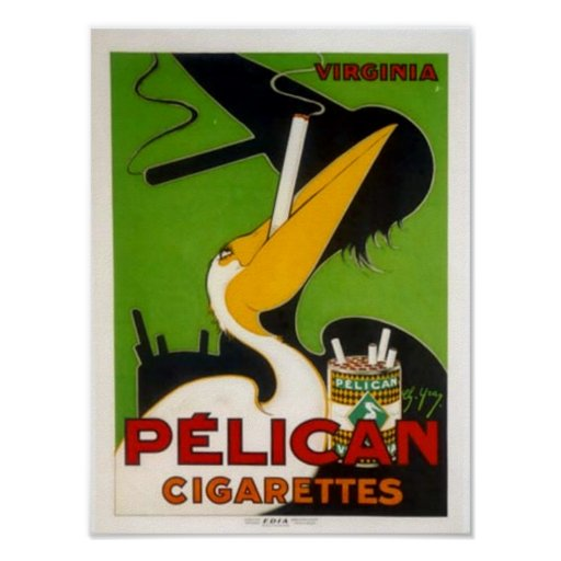 Pelican Cigarettes Poster