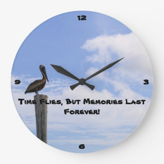 Pelican Clock - Time Flies