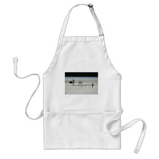 PELICAN & DUCK EARLY MORNING LANDING AUSTRALIA ADULT APRON