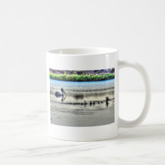 PELICAN & DUCK LANDING RURAL QUEENSLAND AUSTRALIA CLASSIC WHITE COFFEE MUG