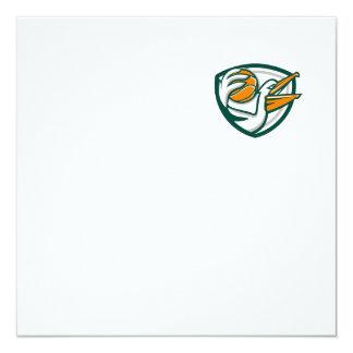 Pelican Dunking Basketball Crest Retro Card