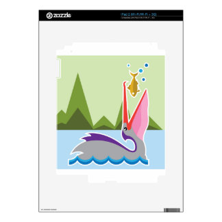 Pelican Eats Fish Decals For The iPad 2