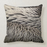 Pelican Feathers Grey Nature Photo Throw Pillow