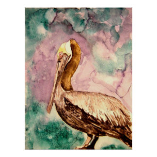pelican fine art print poster
