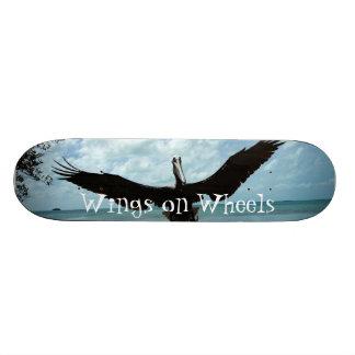 Pelican flying bird Wings Wheels Skateboard deck
